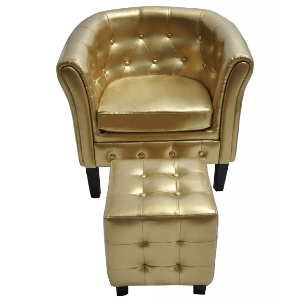 Chesterfield Sessel Nur 125 06 Chesterfield Sessel Mit Hocker Gold Lovdock