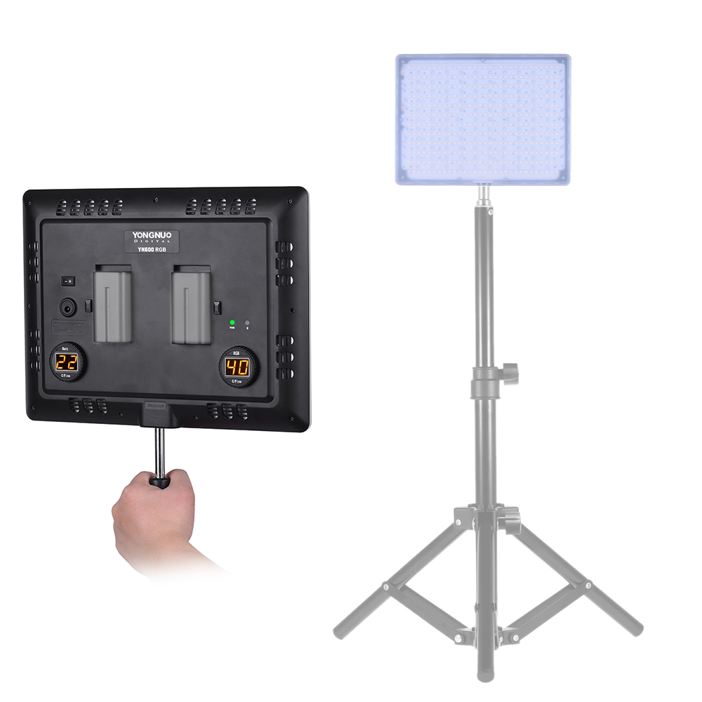Led Fotoleuchte Yongnuo Yn600 Rgb Professionelle 5500k Rgb Led Videoleuchte Soft Light Slim Light Design Einstellbare Helligkeit Cri95 Mit Fernbedienung