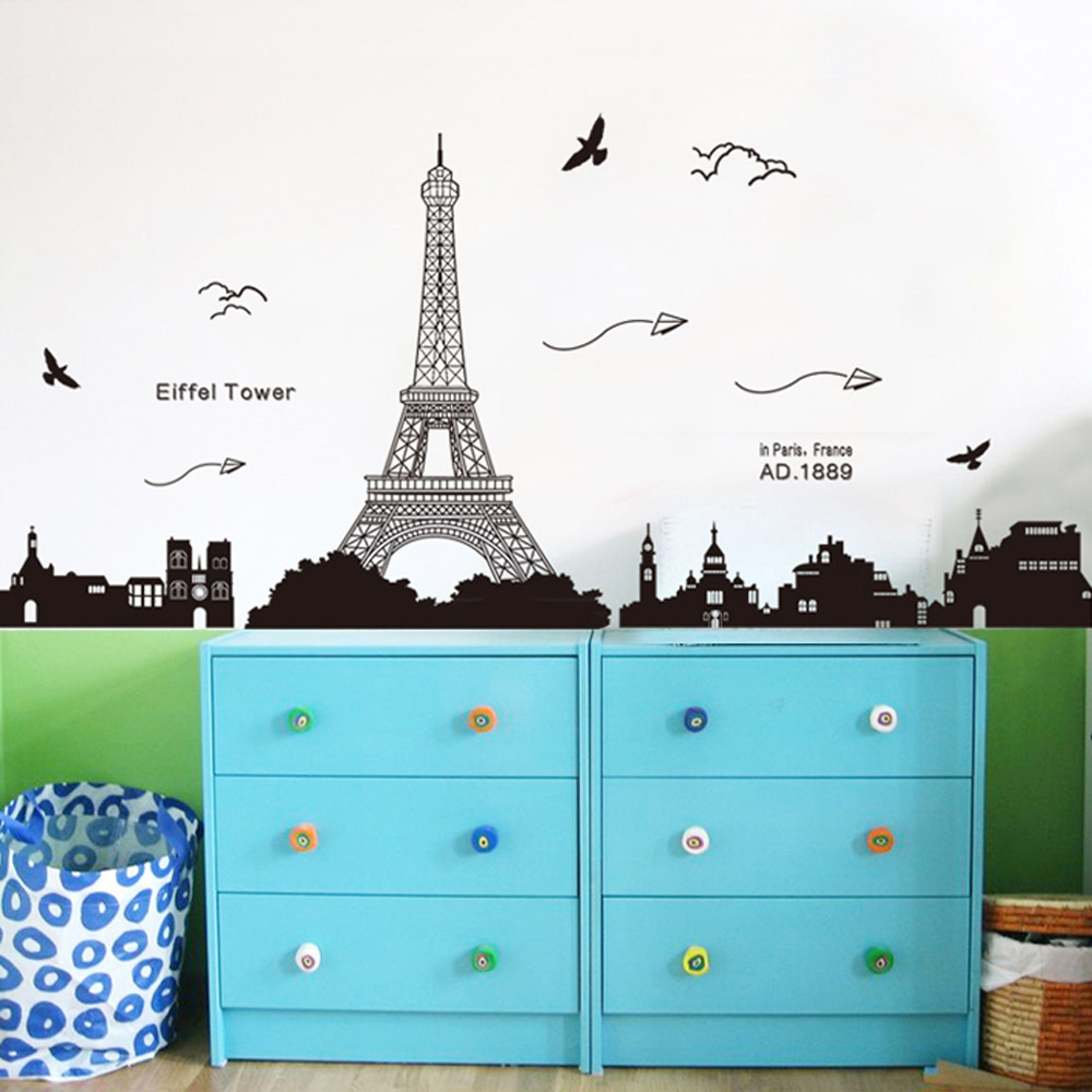 Wallpaper Kamar Paris Paris Eiffel Tower Night Romantic Black Diy Wallpaper Lovdock