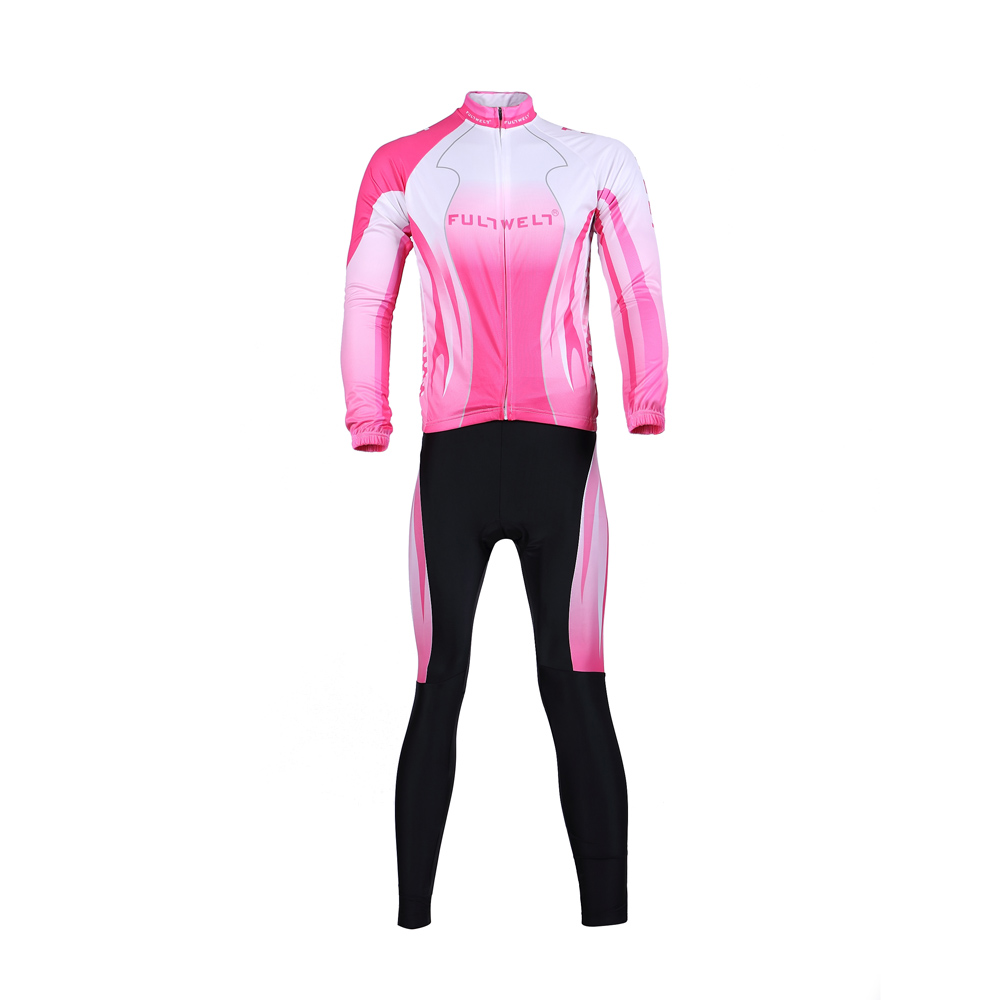 Cycling Clothing Cycling Clothing Set Sportswear Bicycle Bike Outdoor Long Sleeve Jersey Long Pants Breathable For Women