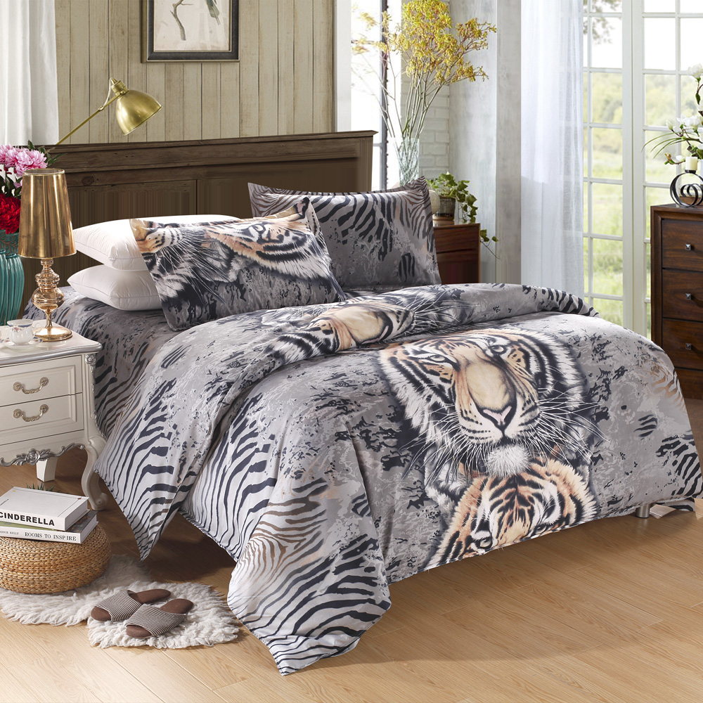 Tiger Bettwäsche L Tiger Pattern 4pcs 3d Printed Bedding Set Lovdock