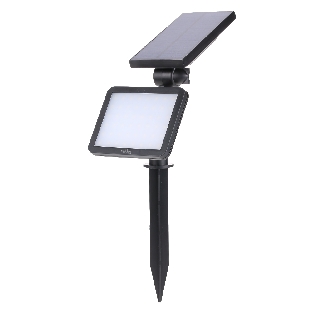 Led Solar Tomshine 3w 48 Led Solar Powered Lawn Lamp 350lm 2 In 1 Dimmable Adjustable Water Resistant Outdoor Wall Light 3 Brightness 5 Lighting Mode Auto On