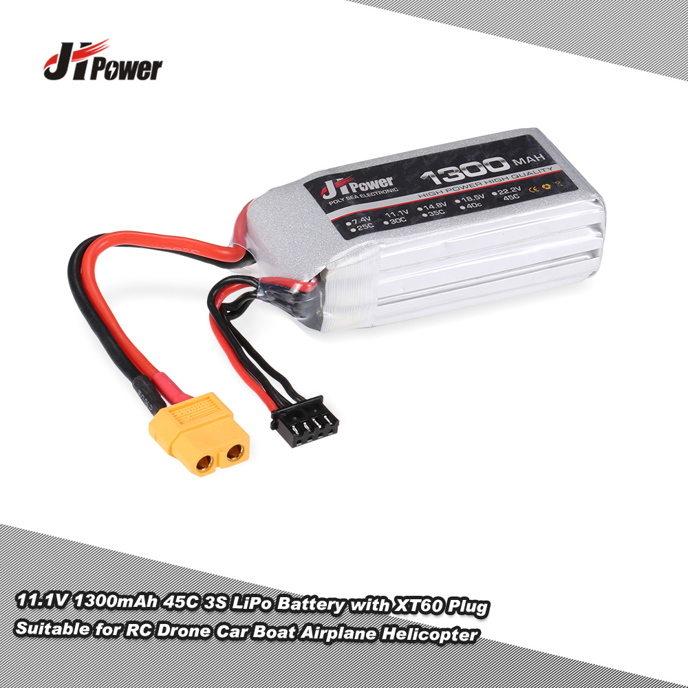 3s Lipo Jhpower 11 1v 1300mah 45c 3s Lipo Battery With Xt60 Plug For Rc Drones Car Boat Airplane Helicopter Rcmoment