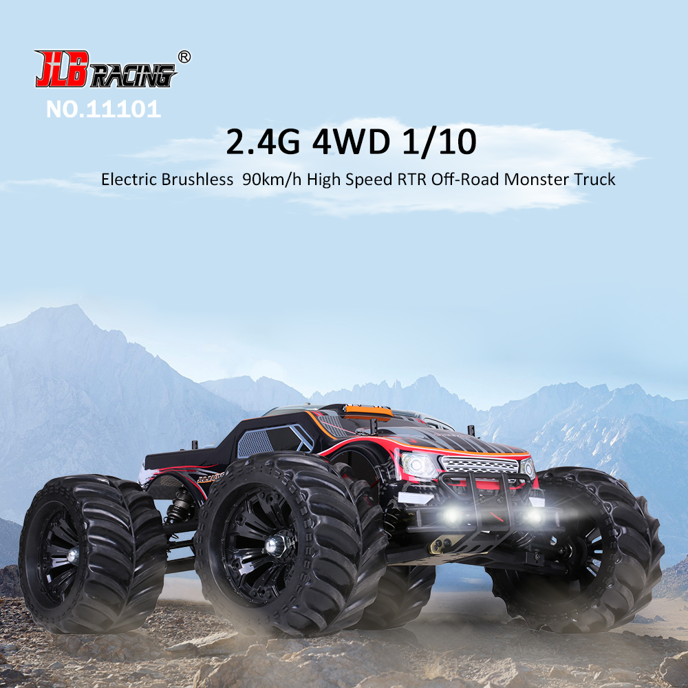 Rtr Rc Trucks Electric Us Jlb Racing 11101 1 10 2 4g 4wd Electric Brushless 90km H High Speed Off Road Monster Truck Rtr Rc Car Rcmoment