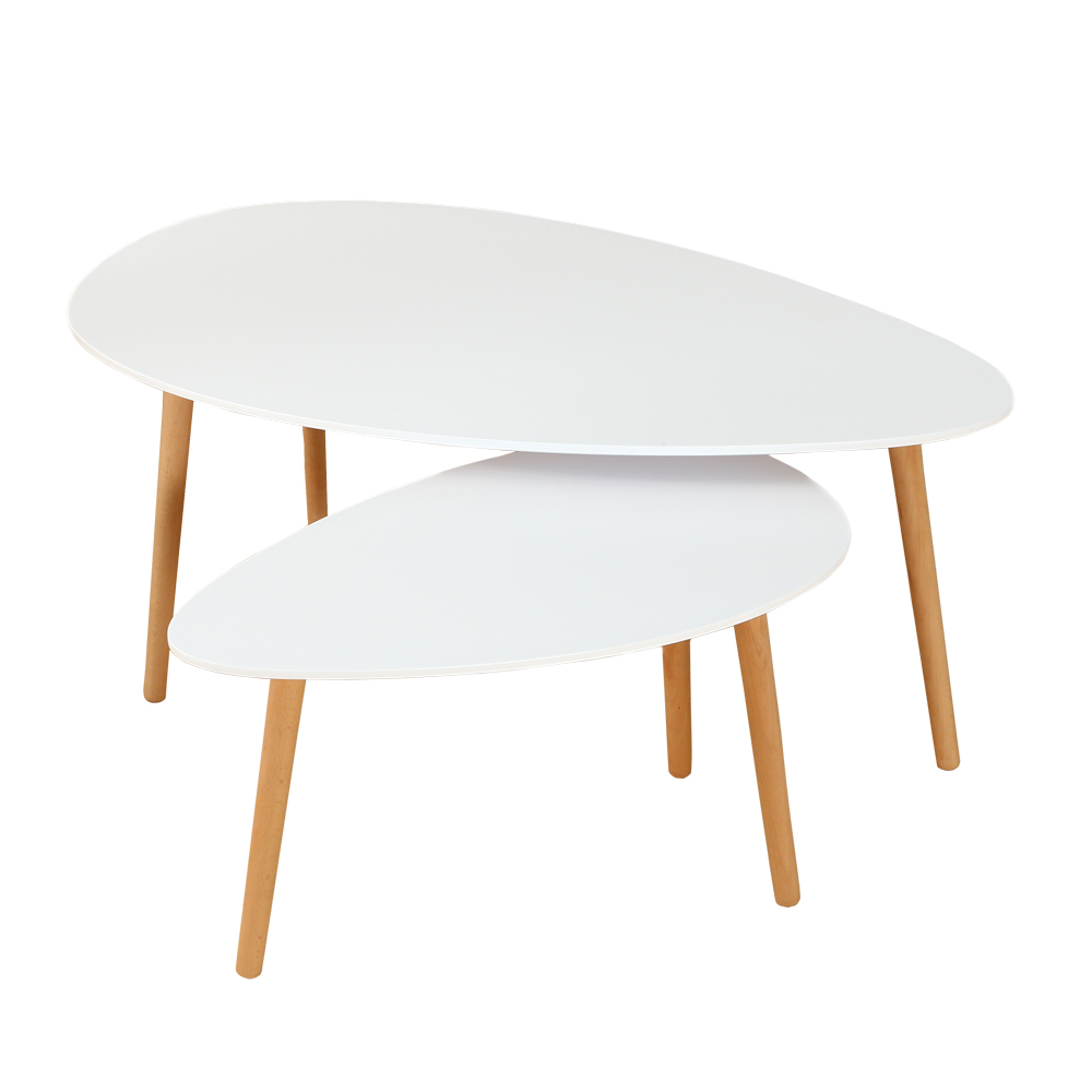 Pied De Table Basse Scandinave Ensemble De 2 Tables Basses Gigognes Style Scandinave Pieds Bois Blanc