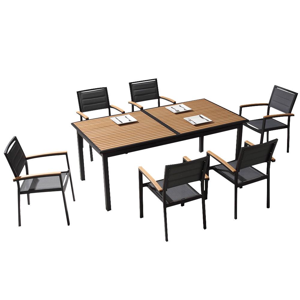 Table Extensible Et Fauteuils Louga