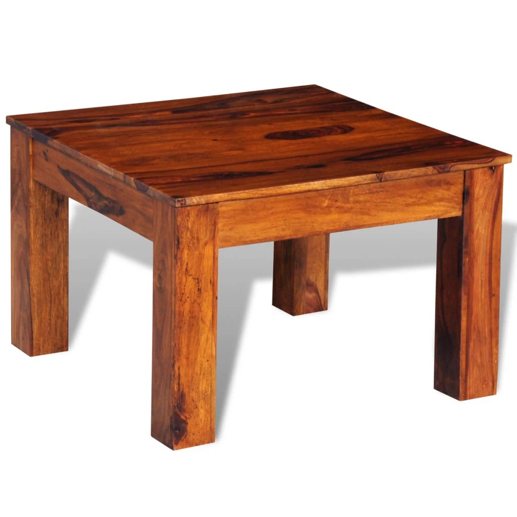 Table Basse Sheesham Table Basse Sheesham Bois 60 X 60 X 40 Cm Tomtop