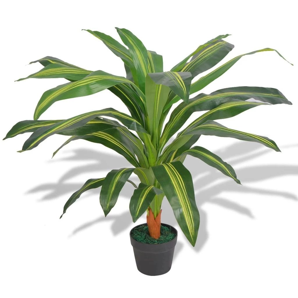 Dracaena Plant Artificial Dracaena Plant With Pot 90 Cm Green Sales Online Green Tomtop