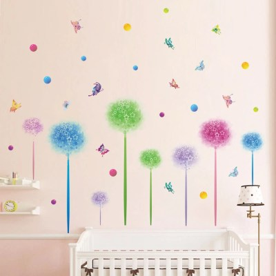 Cute Wall Sticker Removable Lovely Wallpaper Art Decal Room Decoration Reusable Peel and Stick ...