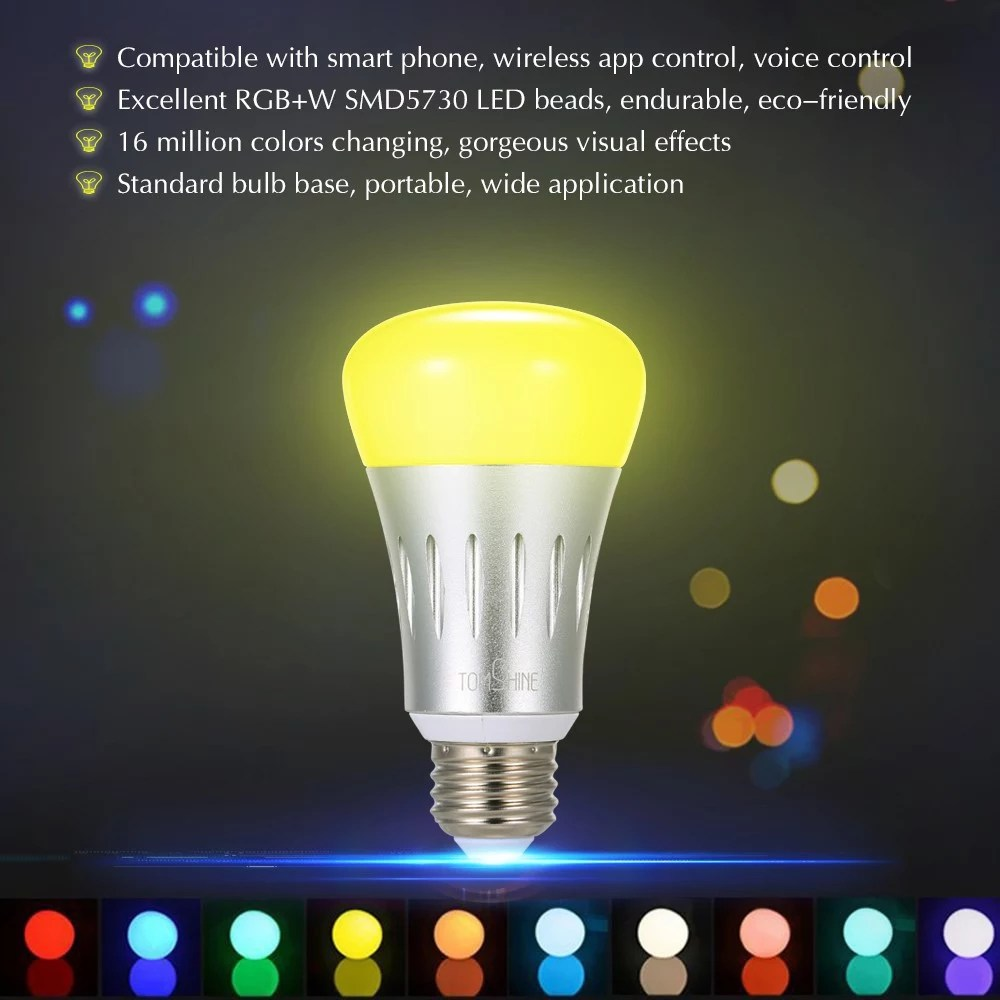 Led Bulbs Rgb Led Bulb E27 E14 16 Color Changing Light Candle Bulb Rgb Led Spotlight Lamp Ac85 265v Tomshine Smart Intelligent Led Bulb With App And Voice Control