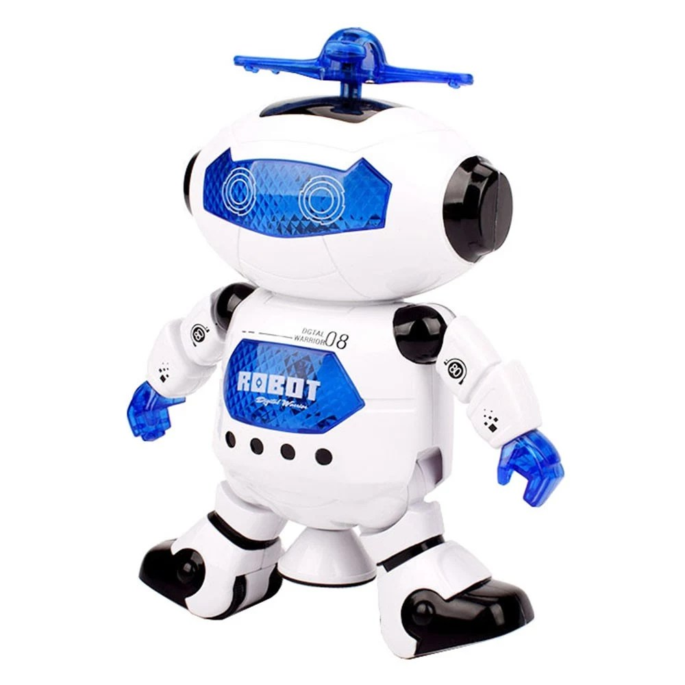 Children Robot Electronic Music Dazzling Light Dancing Rotating Robot Children Toy Birthday Gift