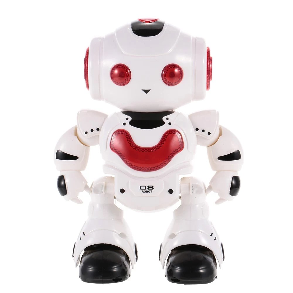Children Robot J605 Rc Dancing Robot With Music Led Light Enlightment Educational Kids Toy Children Gift