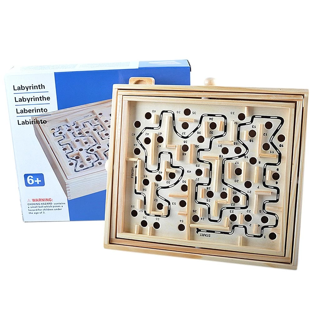 Tappeto Puzzle Baby Smile Wooden Labyrinth Puzzle Maze Game Wooden Labyrinth Balance Board Educational Skill Improvement Wood Toys For Kids For Sale Us 29 99 Tomtop