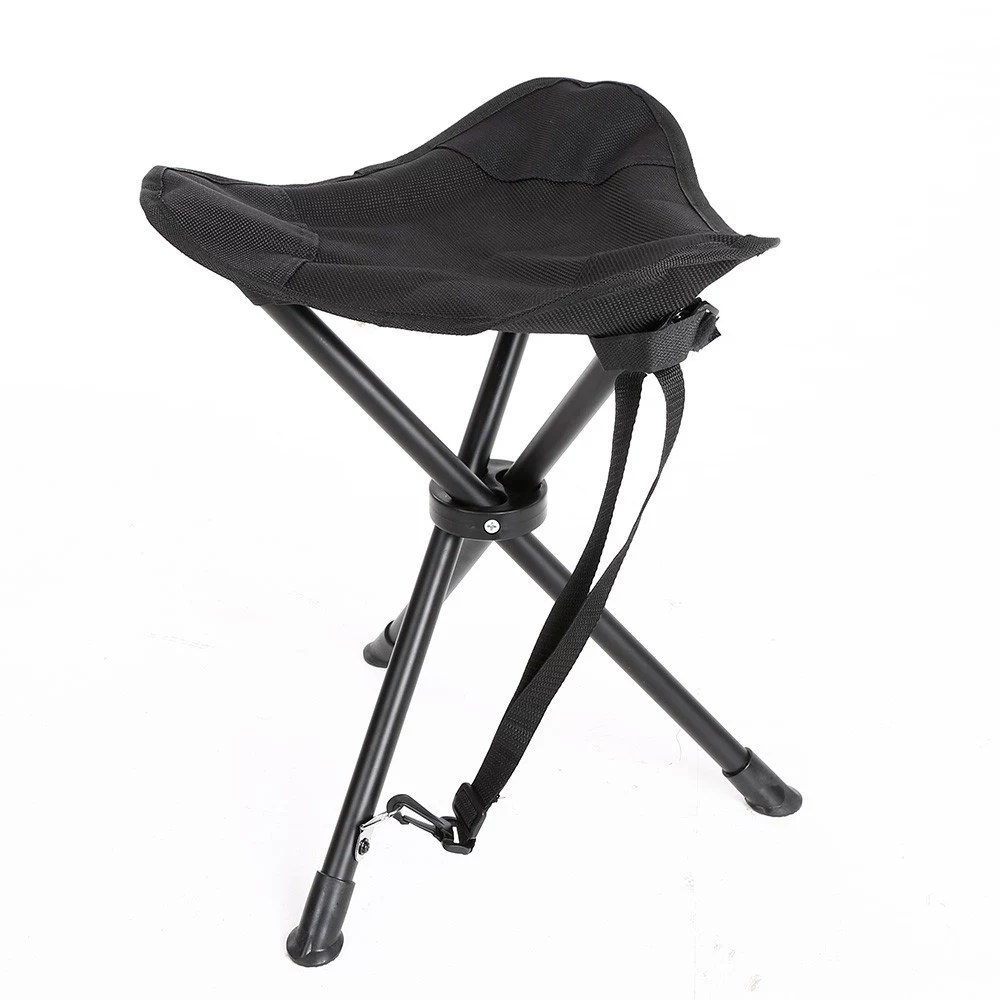 Portable Stool Foldable Fishing Chair Folding Traveling Camping Tripod Chair Slacker Portable Fishing Stool Rest Seat
