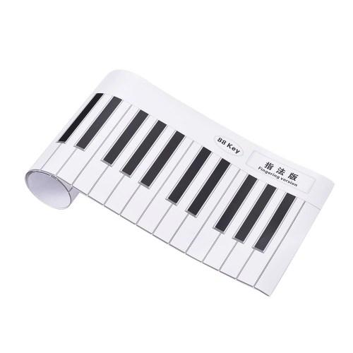 Fingering Version 88 Keys Piano Keyboard Fingering Practice Chart