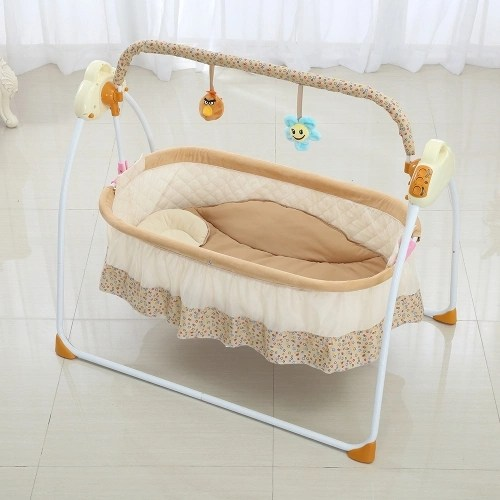 Electric Baby Bassinet Cradle Swing Rocking Music Remoter
