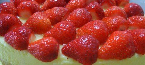 草莓輕乳酪蛋糕做法~(日式乳酪蛋糕)