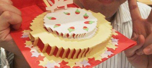 [禮物] 手工立體生日蛋糕卡片