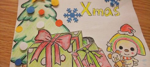 [禮物] 手繪OPEN將聖誕卡片