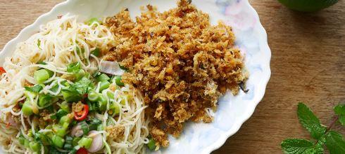 [食譜] 泰式魚酥涼拌麵線,泰式炸魚酥麵線 ยำ ขนม จีน