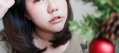 [眼妝] 橘紅眼影畫法,visee晶緞光漾眼影盒與純真唇頰彩