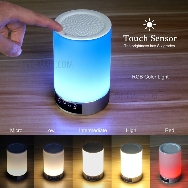 High Quality L5 Bluetooth 4 Speaker Colorful Romantic - Nachttischlampe Led