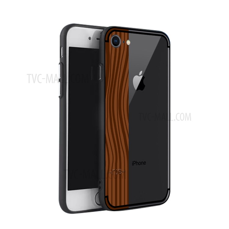 NXE Yaqing Series Wood Texture PC + TPU Hybrid Case for iPhone 8 / 7