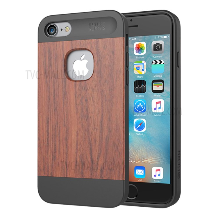 SLICOO Nature Series Wood and TPU Hybrid Case for iPhone 7