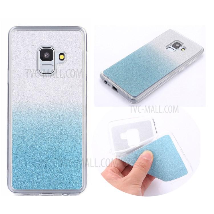 Gradient Glitter Powder TPU Back Cover for Samsung Galaxy A8 Plus