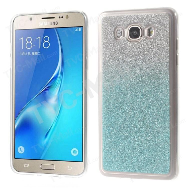 Gradient Glitter Powder TPU Phone Shell for Samsung Galaxy J5 (2016