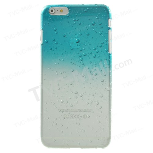 Baby Blue Gradient Color Raindrop Hard Skin Case for iPhone 6s / 6