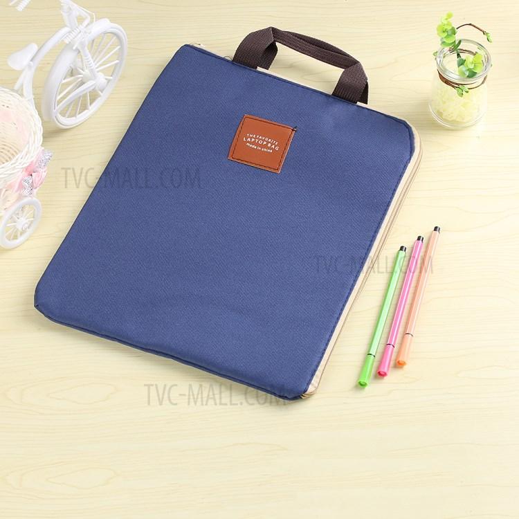Students Kpop Simple Canvas Bag A4 File Folder Document Organizer