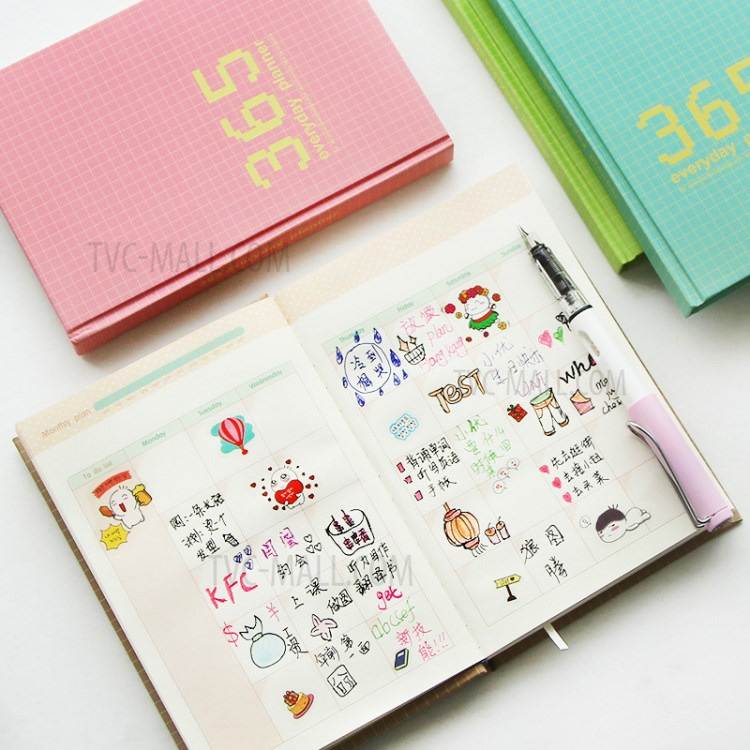 Diary Notebook Everyday Planner Agenda Notebook 128-sheet-TVC-Mall