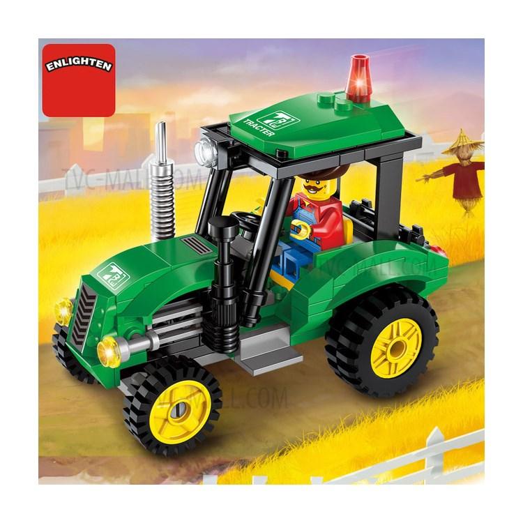 112Pcs/Set DIY Engineering Tractor Mini Educational Building Blocks