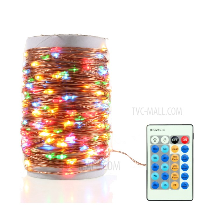 20M 200-LED 4 Colors Dimmable Copper Wire LED String Lights with