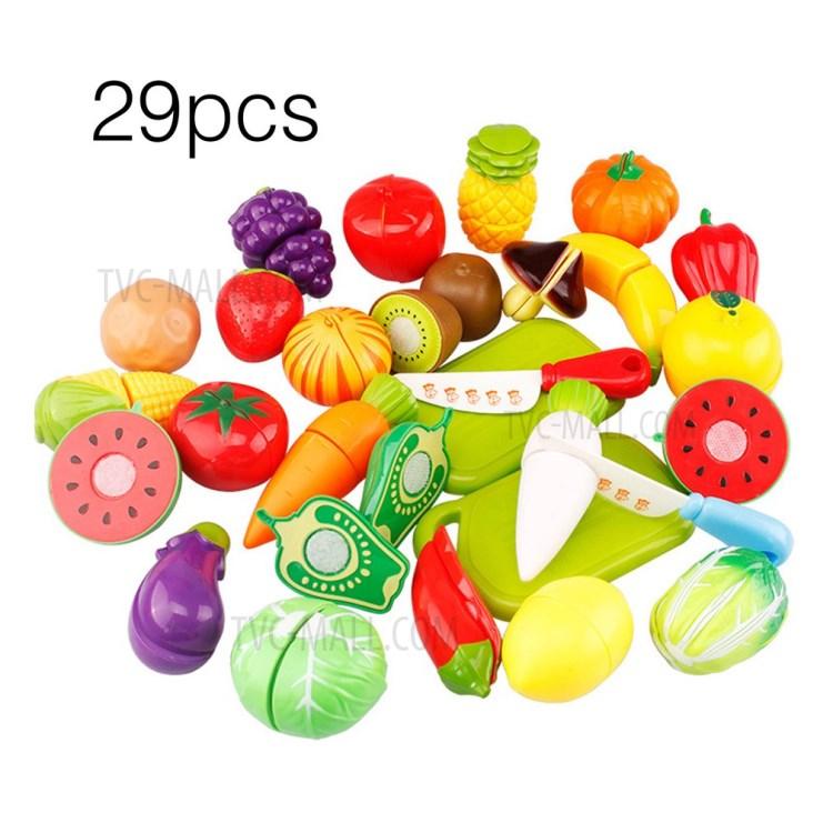 29PCS/Set Unique Children Kids Cutting Fruit Vegetable Food Play