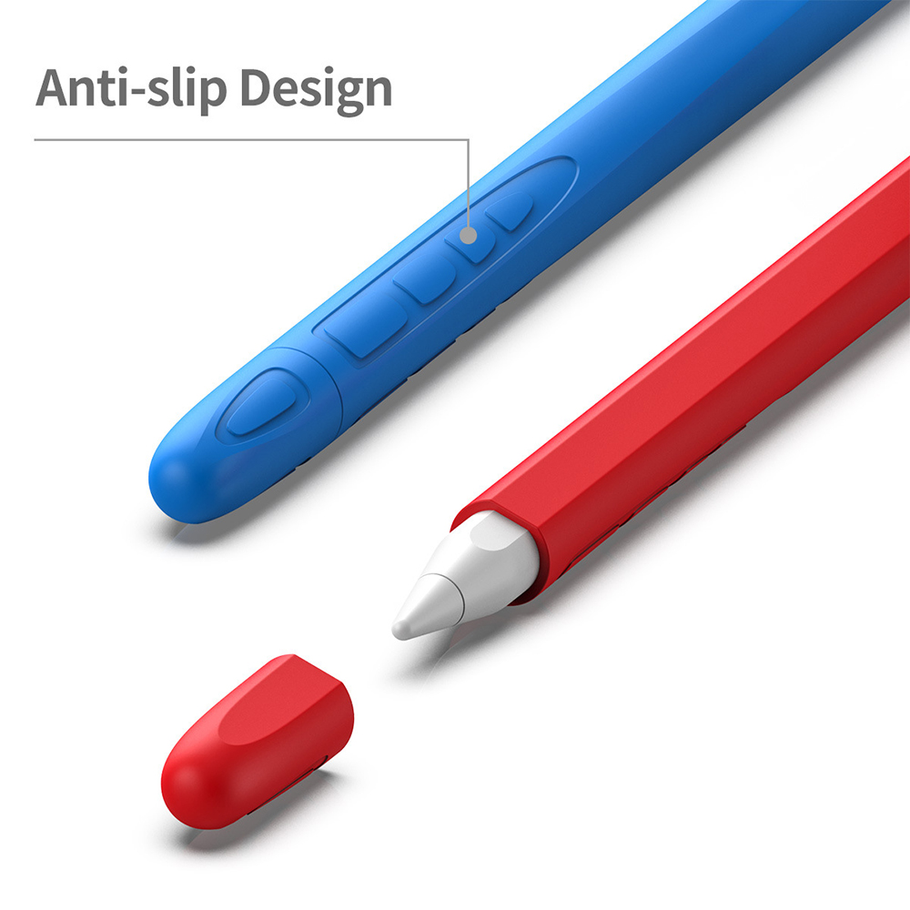 Baby Blue Pen Purchased Soft Silicone Touch Pen Stylus Protective Cover For Apple Pencil 2nd Generation Baby Blue