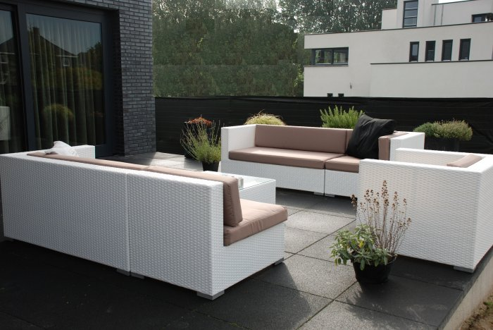 Tuin Lounge Set Design Loungeset Wit Wicker Arbrini €1395 Te Koop