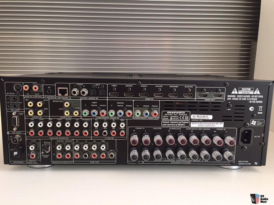 100 Amp Cartridge Fuse Box Marantz Sr6006 7 2 Av Network Receiver W 7x110 Wpc 8 Ohms
