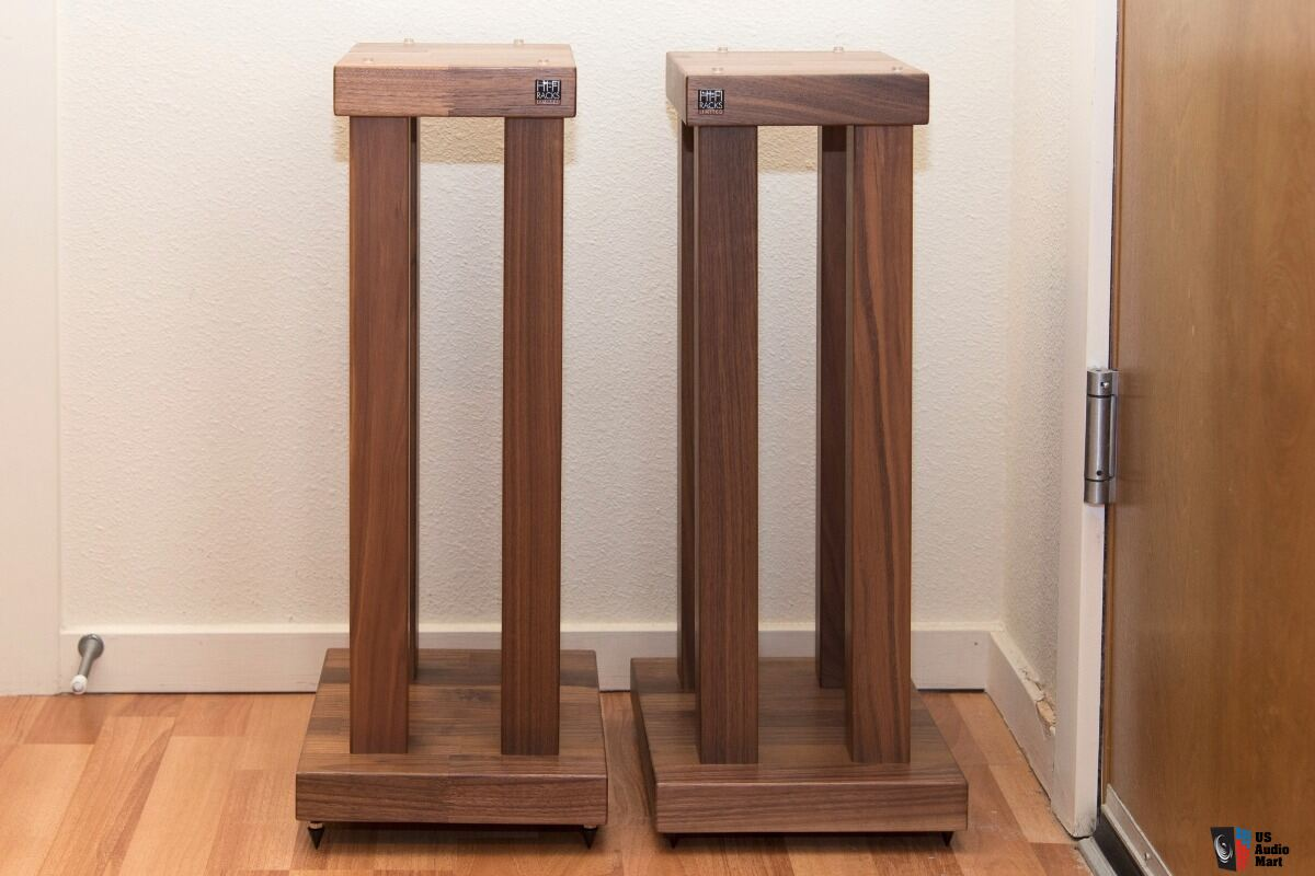 Hifi Rack Podium Hi Fi Racks Podium T5 4 Leg Speaker Stands Walnut Photo 1408706