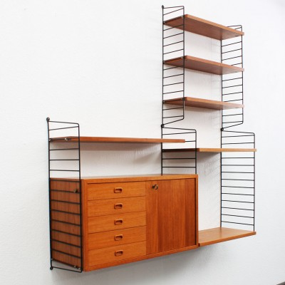 Wall Unit By Nisse Strinning For String Design Ab 1960s - String Nisse