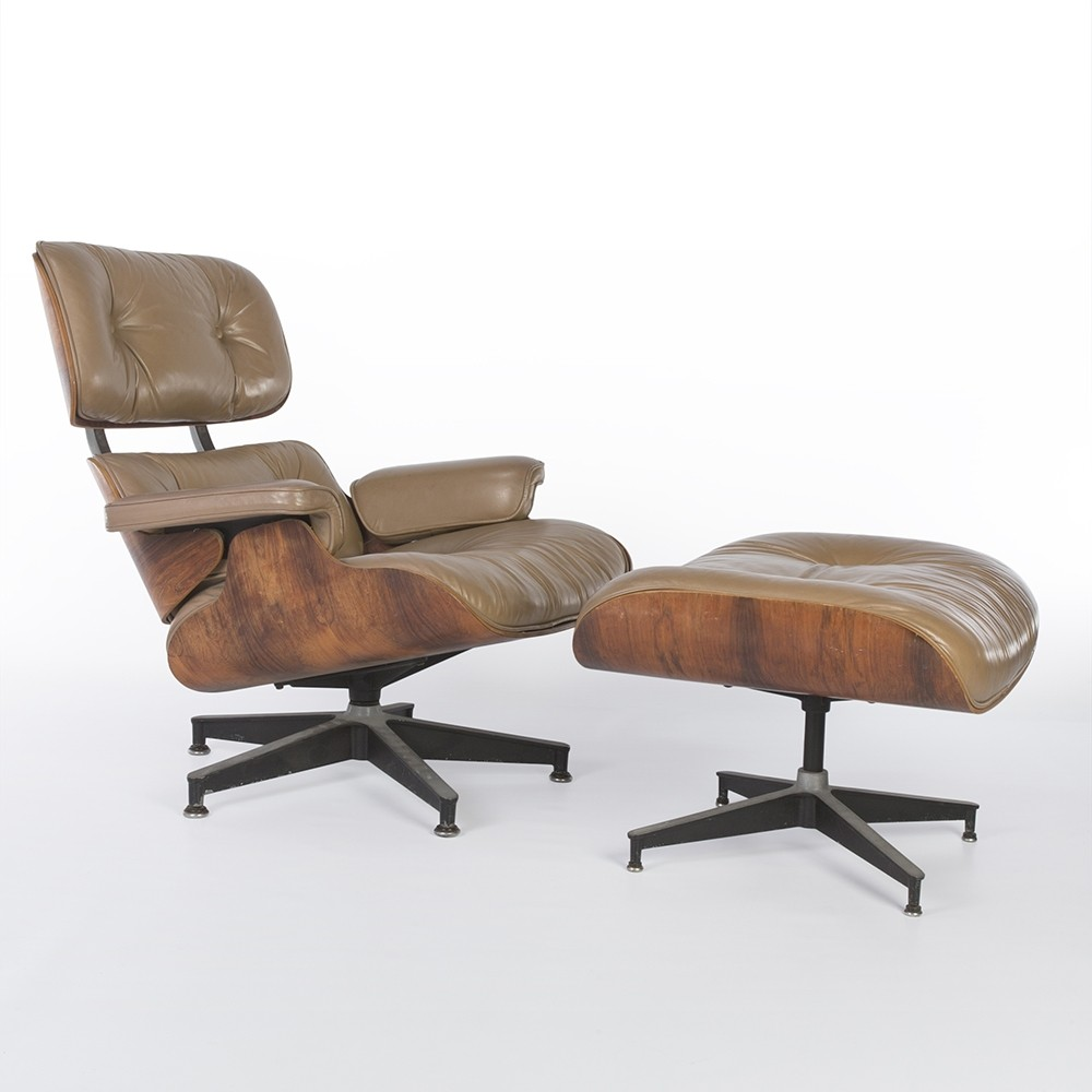 Charles Eames Lounge Chair Beige Rosewood Eames Lounge Chair & Ottoman By Charles & Ray Eames For Herman Miller | #57760