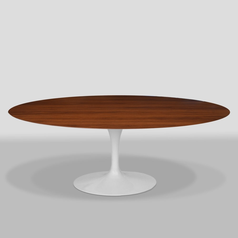 Saarinen Knoll Table Oval Walnut Dining Table By Eero Saarinen For Knoll International 1950s