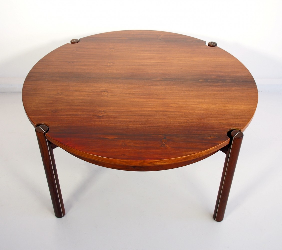 Round Mid Century Coffee Table Round Mid Century Coffee Table By Hans J Frydendal 74115