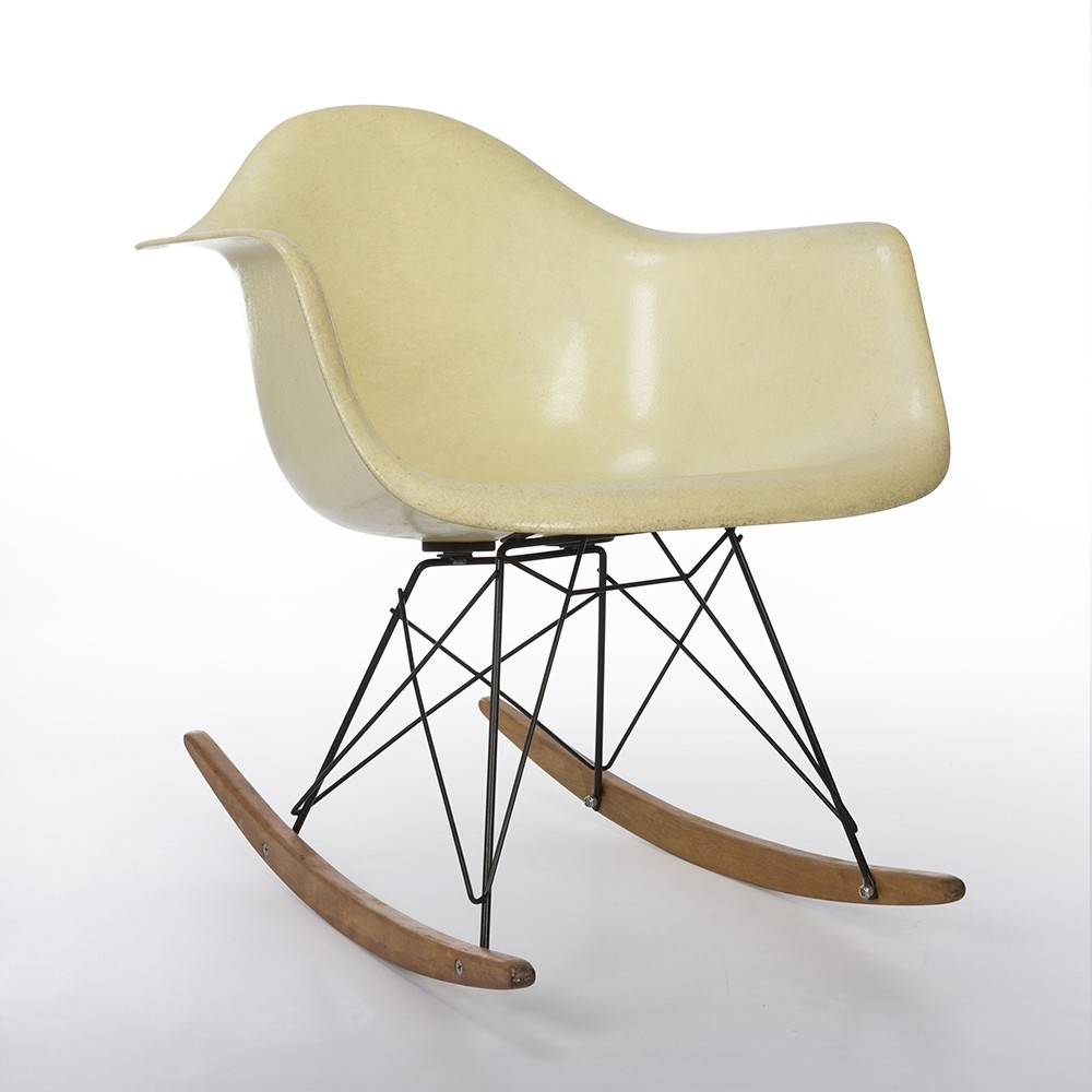 Eames Rar Original 1st Generation Zenith Lemon Yellow Eames Rar Rocking Arm Chair