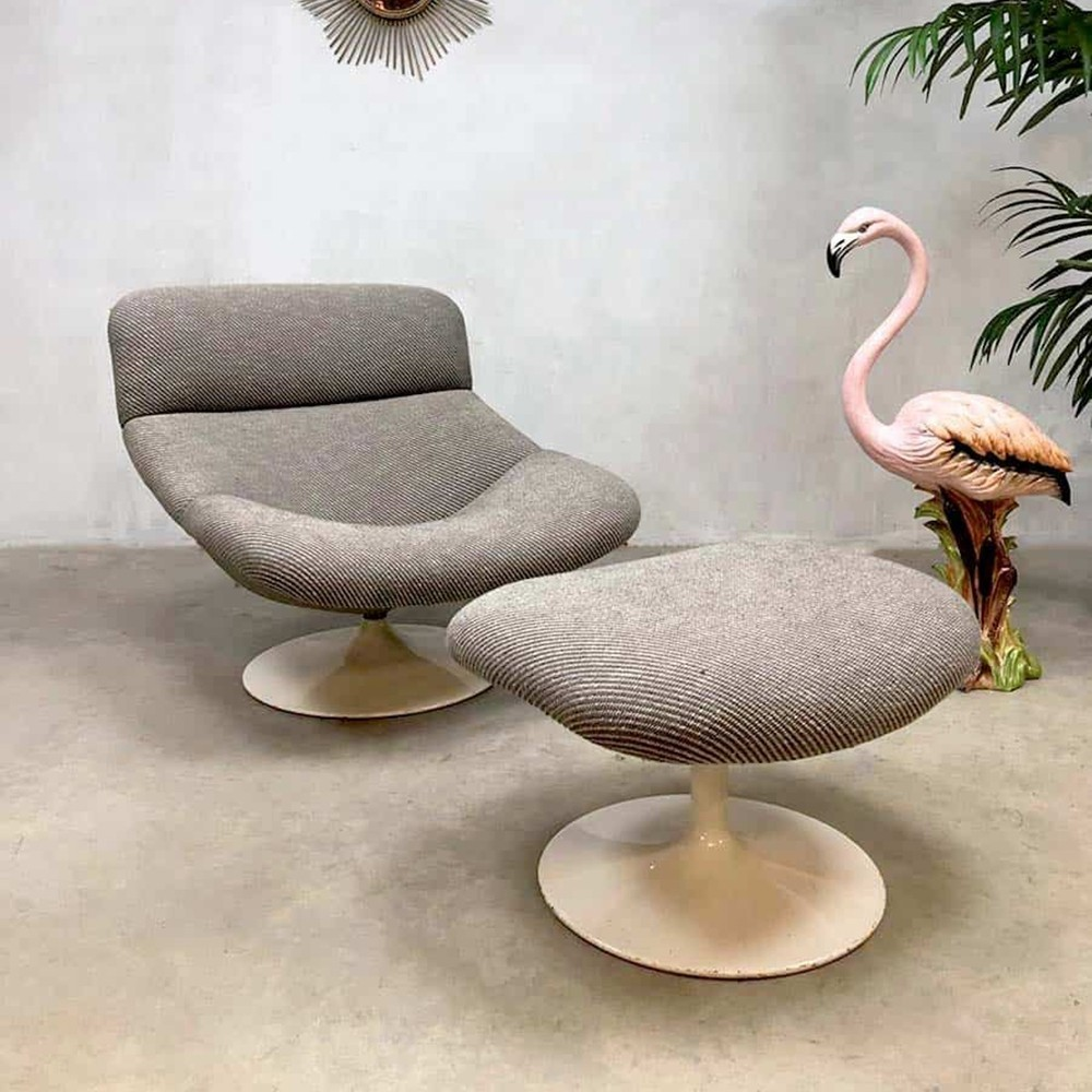 Hocker Vintage Vintage Design Swivel Chair Hocker F518 By Geoffrey Harcourt For