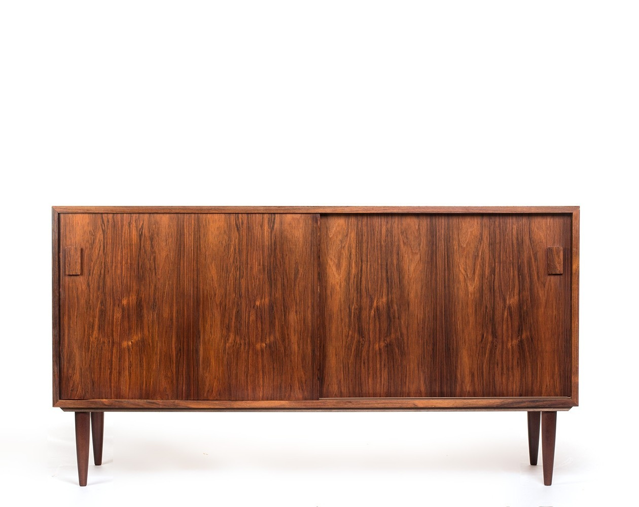 Vintage Sideboard Sliding Doors Vintage Danish Rosewood Sideboard With Sliding Doors By
