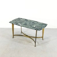 Marble & brass Coffee table by Osvaldo Borsani, 1950s | #93778