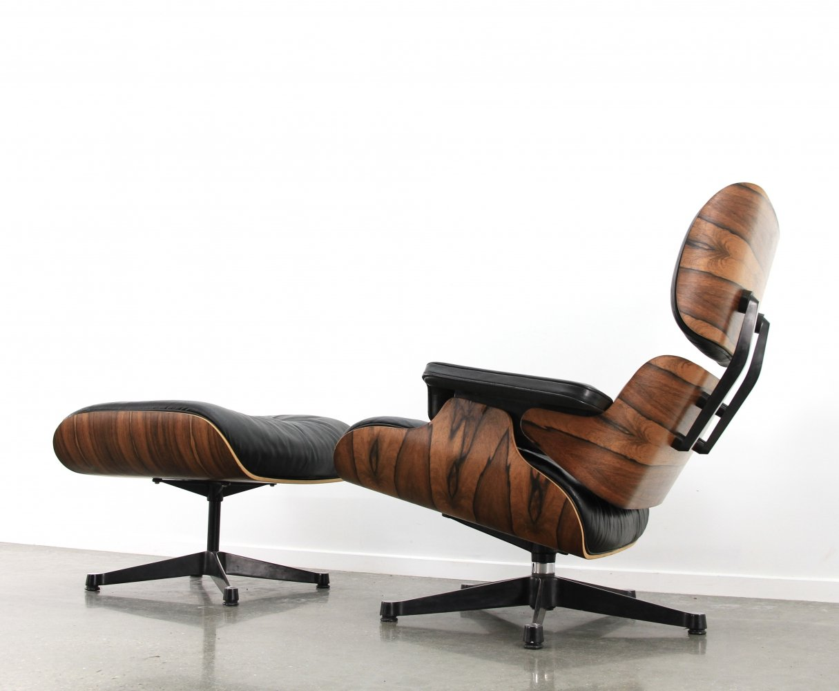 Eames Lounge Chair Ottoman By Vitra 1992 96841 - Vitra Lounge Chair Mahagoni