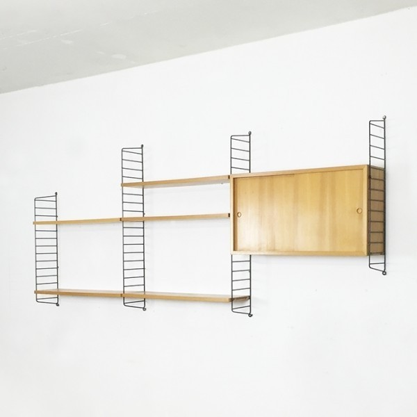 String Wall Unit By Nisse Strinning For String Design Ab - String Nisse
